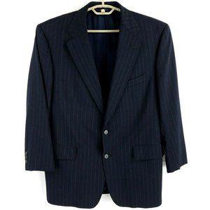 Brooks Brothers Brooksease Dark Blue Pinstripe Wool 2 Button Suit Mens 42R 35x27